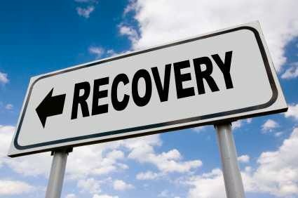Road sign that says recovery