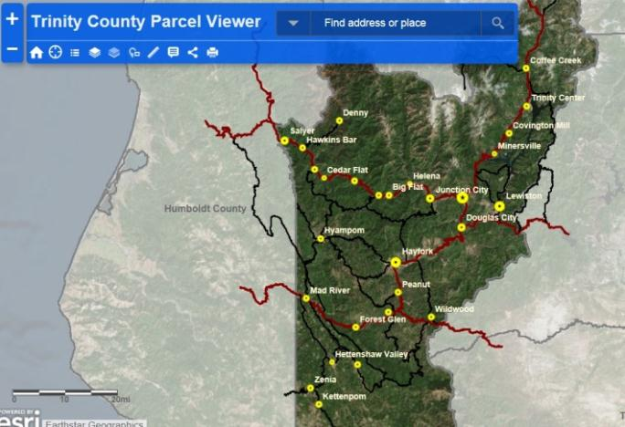 Trinity County Parcel Viewer | Trinity County on