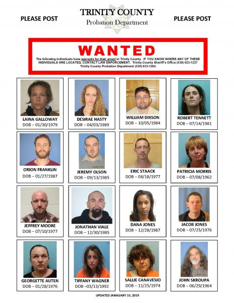 PROBATION'S MOST WANTED | Trinity County